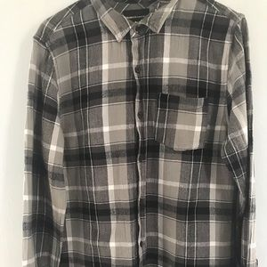 Modern amusement gray and black flannel size L